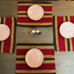 Placemats Striped Southwestern Style Set 4